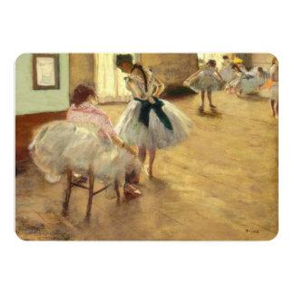 """Edgar Degas la lección de danza Invitación 5"""" X 7"""""""