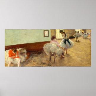 Edgar Degas la lección de danza Póster