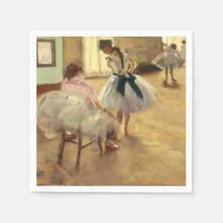 Edgar Degas la lección de danza Servilleta Desechable