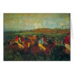 Edgar Degas - la raza de los caballeros Tarjeta