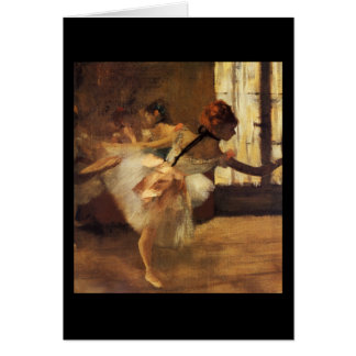 Edgar Degas La Répétition De Danse Card