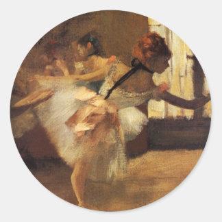 Edgar Degas La Répétition De Danse Pegatina Redonda