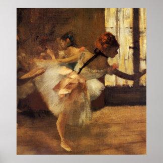 Edgar Degas La Répétition De Danse Póster