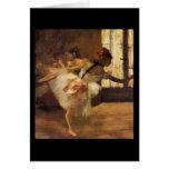 Edgar Degas La Répétition De Danse Tarjeton