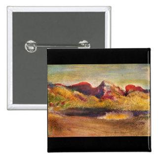 Edgar Degas - Lake and mountains Buttons