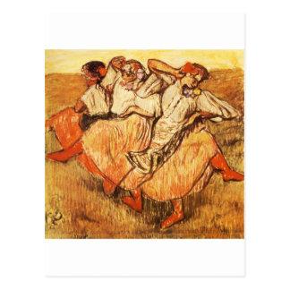 Edgar Degas Les Trois danseuses russes Postcards