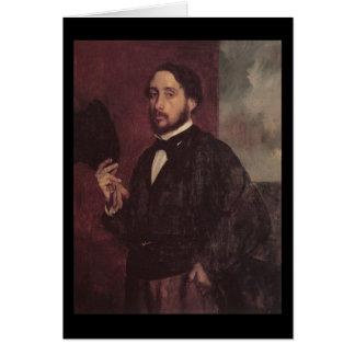 Edgar Degas Lifting His Hat Self Portrait Cards