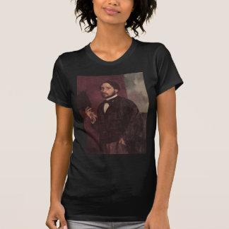 Edgar Degas Lifting His Hat Self Portrait T Shirt