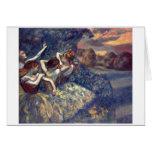 Edgar Degas - lona 1899 del ballet de cuatro Tarjeta De Felicitación