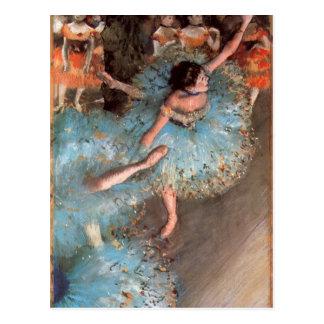 Edgar Degas - los bailarines de los verdes Postal