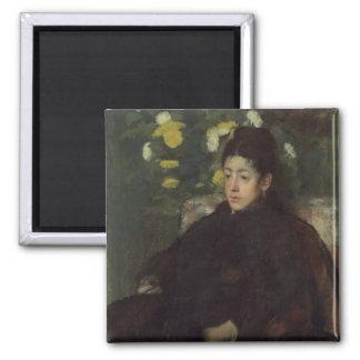 Edgar Degas' Mademoiselle Malo 2 Inch Square Magnet