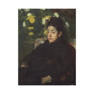 Edgar Degas' Mademoiselle Malo Canvas Print