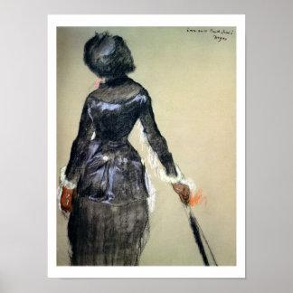 Edgar Degas | Mary Cassatt at the Louvre Poster