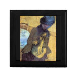 Edgar Degas - Mary Cassatt con su perro Cajas De Recuerdo