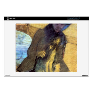 Edgar Degas - Mary Cassatt with her dog Laptop Skin