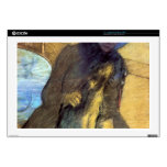 "Edgar Degas - Mary Cassatt with her dog 17"" Laptop Decal"