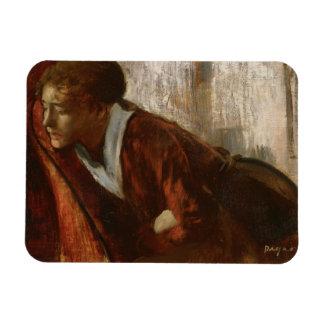 Edgar Degas - Melancholy Rectangular Photo Magnet