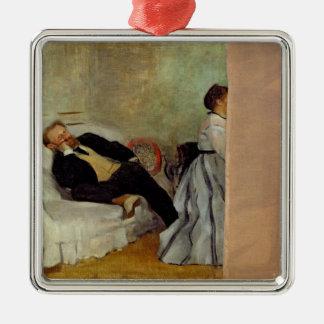 Edgar Degas | Monsieur and Madame Edouard Manet Metal Ornament