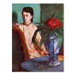 Edgar Degas - mujer asentada Tarjetas Postales