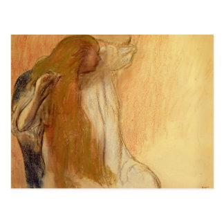 Edgar Degas: Mujer que se peina el pelo Tarjetas Postales