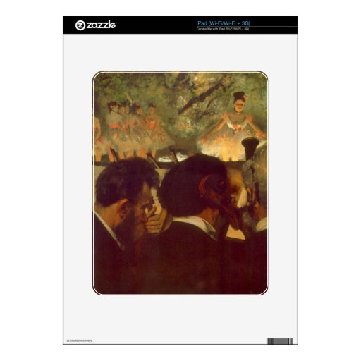 Edgar Degas - Musicians Skin For iPad