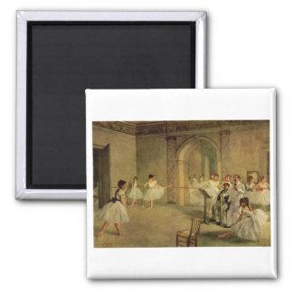 Edgar Degas - Opera Ballet Hall Rue Peletier 1872 2 Inch Square Magnet