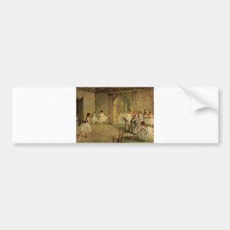 Edgar Degas - Opera Ballet Hall Rue Peletier 1872 Bumper Sticker