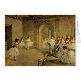 Edgar Degas - Opera Ballet Hall Rue Peletier 1872 Card