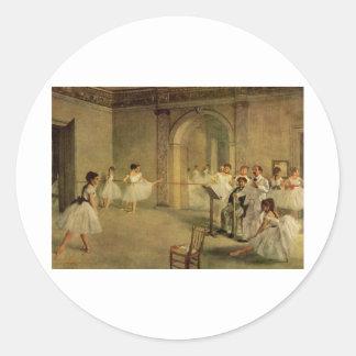 Edgar Degas - Opera Ballet Hall Rue Peletier 1872 Classic Round Sticker