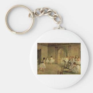 Edgar Degas - Opera Ballet Hall Rue Peletier 1872 Keychain