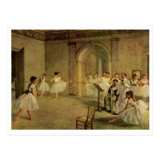 Edgar Degas - Opera Ballet Hall Rue Peletier 1872 Postcard