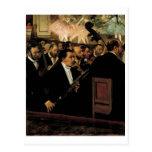 Edgar Degas - Orcchestra of Opera 1870 Clarinet Postcard