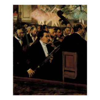 Edgar Degas - Orcchestra of Opera 1870 Clarinet Poster