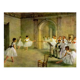 Edgar Degas - Pasillo del ballet de la ópera en la Postales