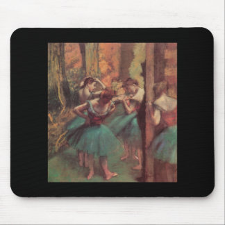 Edgar Degas Pink and Green Dancers Mouse Pad