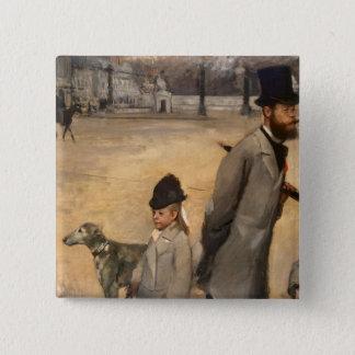 Edgar Degas   Place de la Concorde, 1875 Button