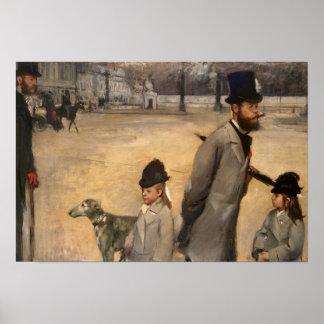 Edgar Degas | Place de la Concorde, 1875 Poster