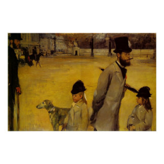 Edgar Degas - Place of Concorde 1875 oil canvas Poster