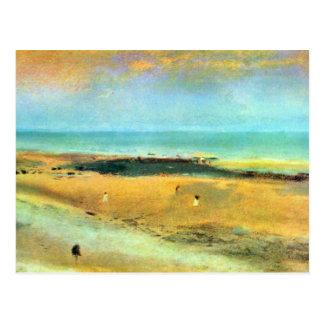 Edgar Degas - playa durante la bajamar Tarjetas Postales