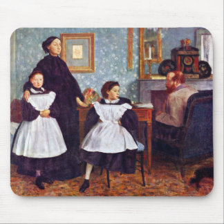Edgar Degas - Portait de la familia de Bellelli Tapete De Ratones