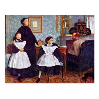 Edgar Degas - Portait of the Bellelli family Postcard