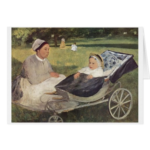 Edgar Degas - Portrait Goerness w/ Child 1870 baby Greeting Cards