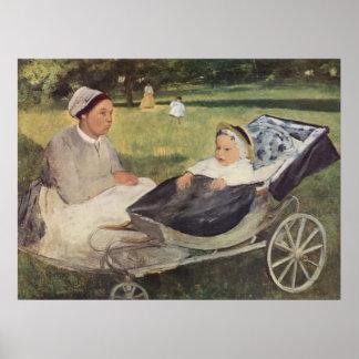 Edgar Degas - Portrait Goerness w/ Child 1870 baby Posters