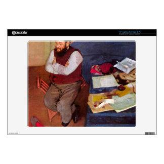 Edgar Degas - Portrait of Diego Martelli Skins For Laptops