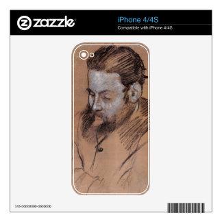 Edgar Degas | Portrait of Diego Martelli Skin For The iPhone 4