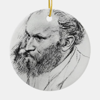 Edgar Degas | Portrait of Edouard Manet  Ceramic Ornament