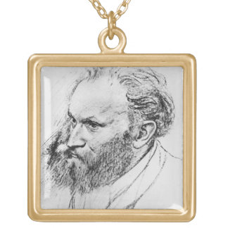 Edgar Degas | Portrait of Edouard Manet  Gold Plated Necklace