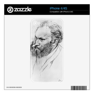 Edgar Degas | Portrait of Edouard Manet  iPhone 4 Decal