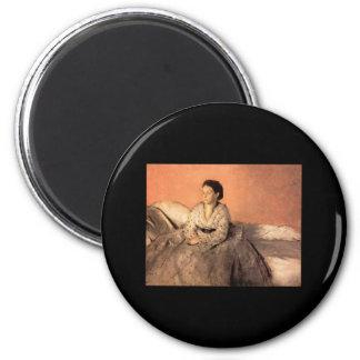 Edgar Degas Portrait of Estelle Musson de Gas Magnet