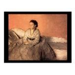 Edgar Degas Portrait of Estelle Musson de Gas Postcard
